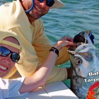 Julie Scribner first Tarpon on bahia honda tarpon charter